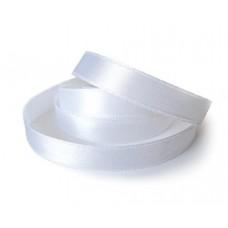 Атласная лента белая, 25 мм
