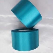 Атласная лента цвет бирюзовый, 50 мм