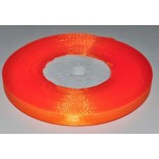 Атласная лента цвет апельсиновый неон, 6 мм