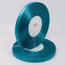 Атласная лента цвет бирюзовый, 6 мм
