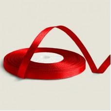 Атласная лента цвет красный, 6 мм