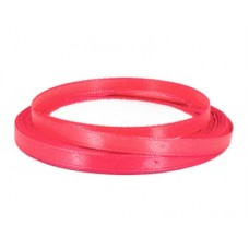Атласная лента цвет розовый, 6 мм