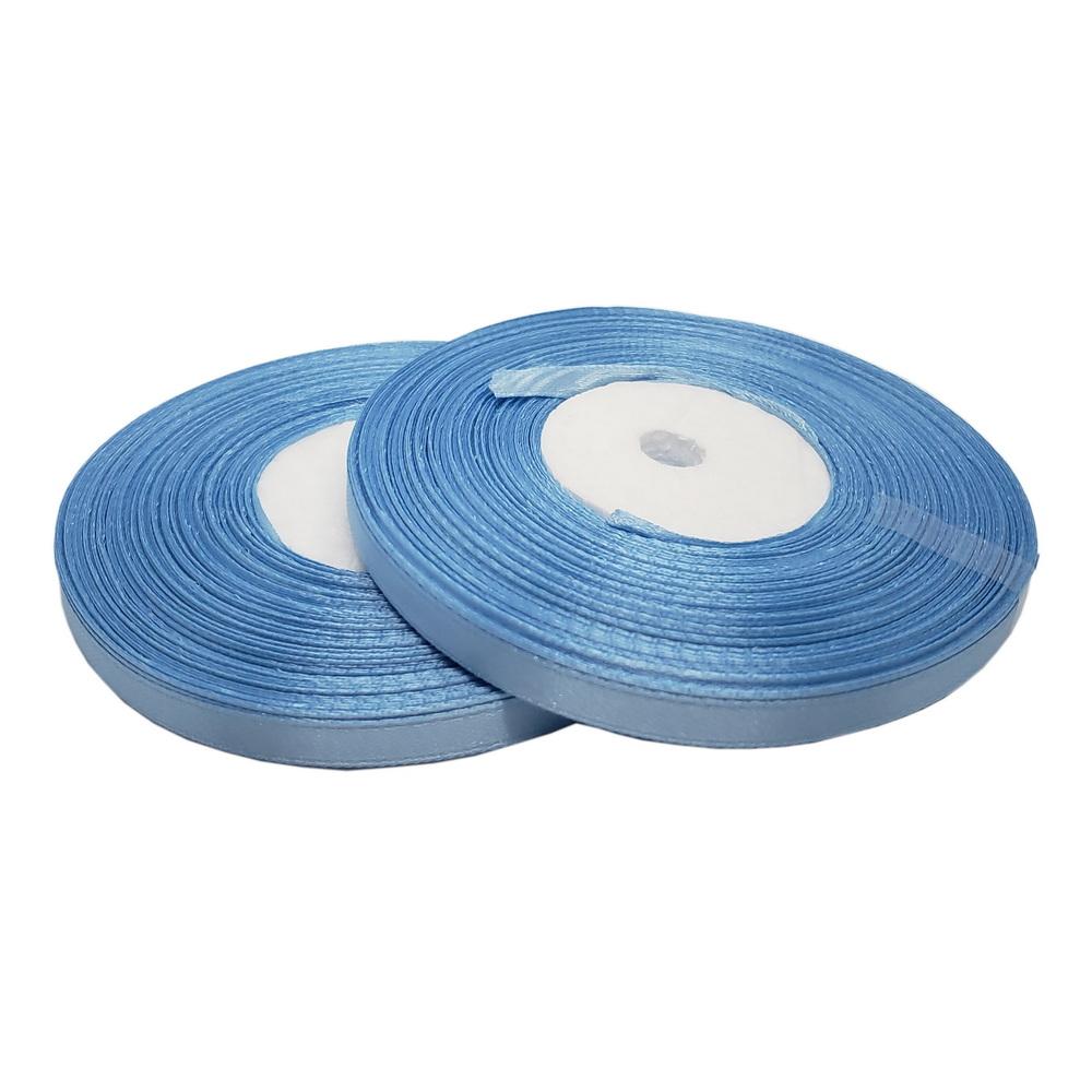 Атласная лента цвет небесно-голубой, 6 мм