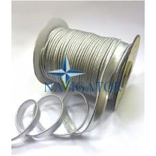 Кант парчовый цвет серебро, № 3191, 11 мм