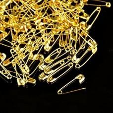 Булавка английская № 0, 20 мм, золотая. 1 шт.
