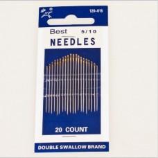 Набор швейных игл Best 120-015 5/10 с золотым ушком