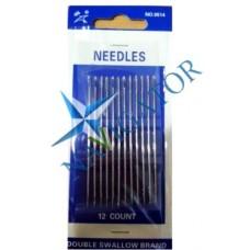 Набор игл для шитья вручную Needles, 0514, 12 шт.