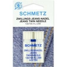 Двойная игла для джинсовой ткани Schmetz Twin Jeans №100/4,0