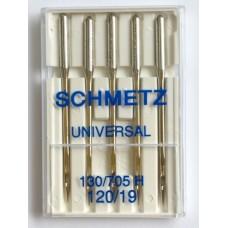Иглы универсальные Schmetz Universal № 120 для бытовых швейных машин