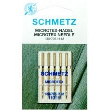 Иглы для микротекстиля Schmetz Microtex 130/705 H-M № 110/18