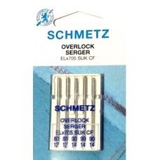 Иглы для оверлока Schmetz ELx705 SUK CF 80-90 для эластичных тканей