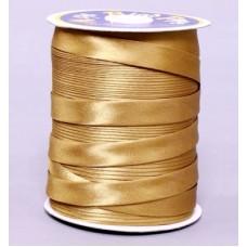 Косая бейка цвет золотой № 146
