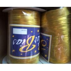 Косая бейка парча, цвет золото 1 м