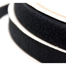 Лента липучка черная 2 см
