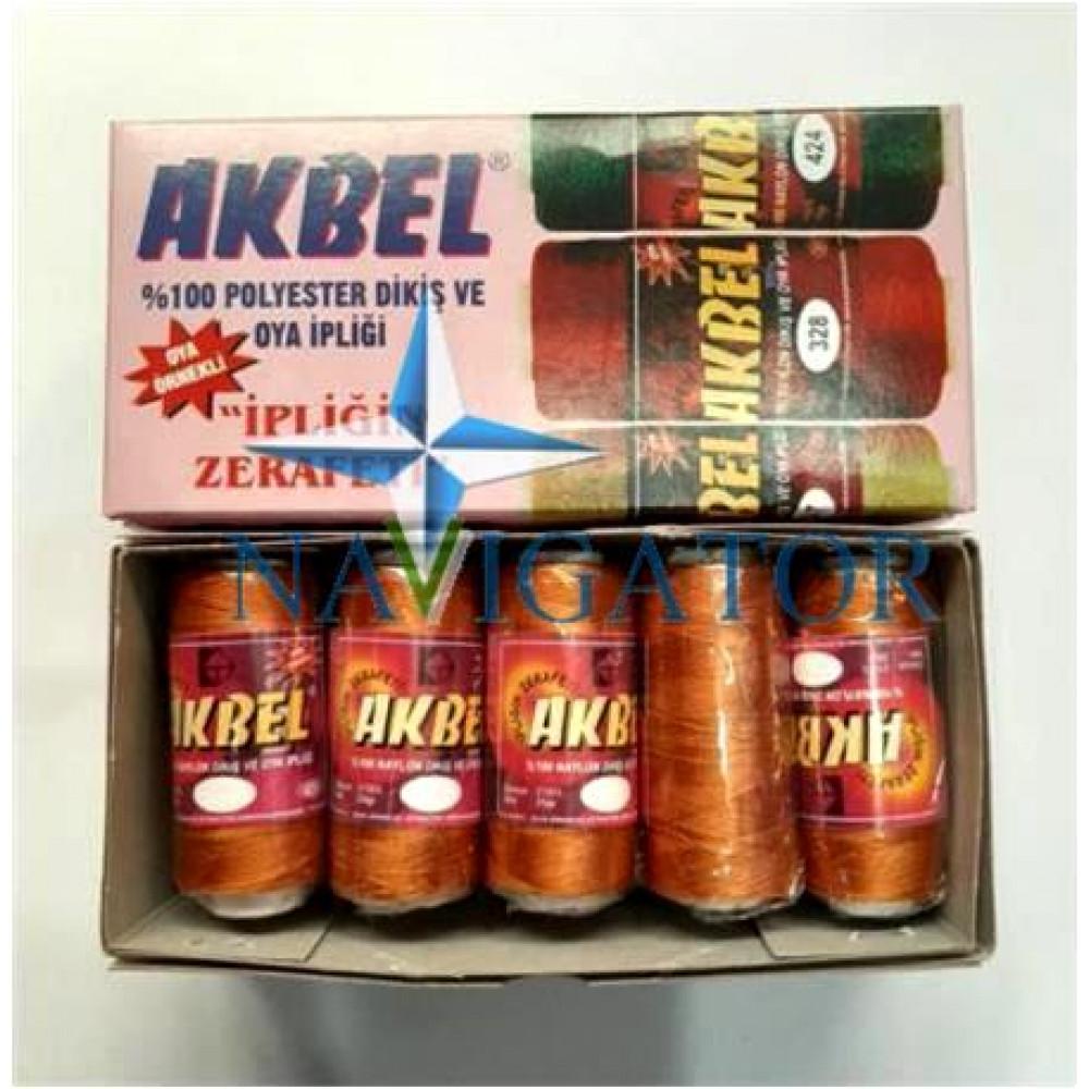 Нить капроновая AKBEL цвет охра