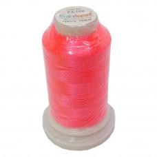 Нить для вышивки PE-200, цвет розовый неон