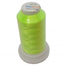 Нить для вышивки PE-196, цвет зеленый неон
