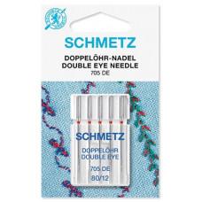 Набор игл Schmetz Double Eye № 80 с двумя ушками для декоративных работ