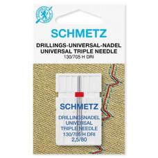 Тройная универсальная игла Schmetz Triple universal 130/705 H DRI № 2,5/80