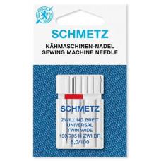 Двойная универсальная игла Schmetz System 130/705 H ZWI BR № 100/8.00