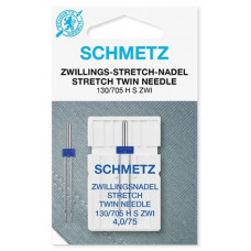 Игла двойная для трикотажа Schmetz Twin Stretch № 75/4,0