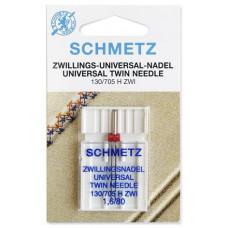 Двойная универсальная игла Schmetz Twin Universal № 80/1,6