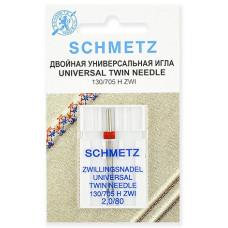 Двойная универсальная игла Schmetz Twin Universal № 80/2,0
