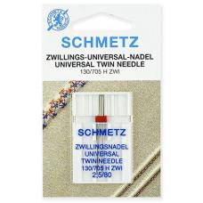 Двойная универсальная игла Schmetz Twin Universal № 80/2,5