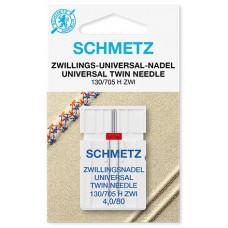 Двойная универсальная игла Schmetz Twin Universal № 80/4,0