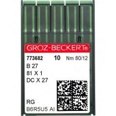 Промышленные швейные иглы B27, DCх27 №80 упаковка 10 шт