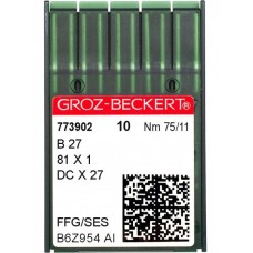 Промышленные швейные иглы B27, DCх27 №75 SES упаковка 10 шт
