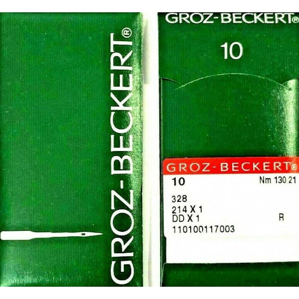 Игла Groz-Beckert 328, 214x1, DDx1, № 130/21, 10 шт