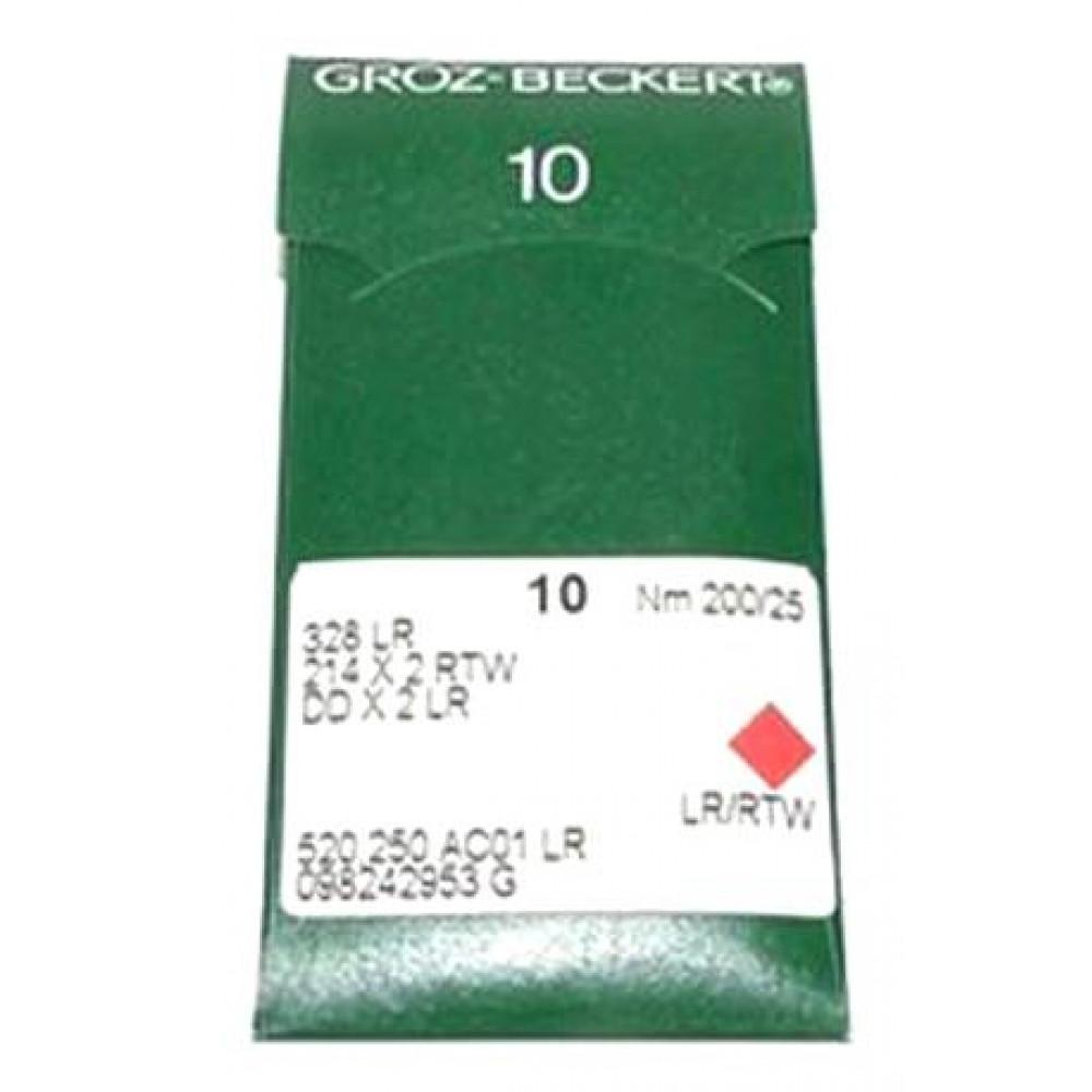 Игла Groz-Beckert 328LR, 214x2RTW, DDx2LR № 200 для кожи