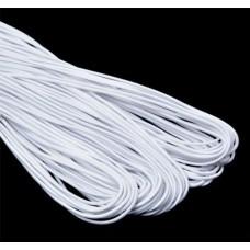 Резинка шляпная белая 2,5 мм