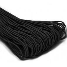 Резинка шляпная черная 2,5 мм