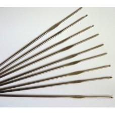 Крючок для вязания 0.9 мм, металл с золотым наконечником