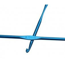 Алюминиевый крючок для вязания с цветным покрытием 4 мм