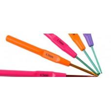 Алюминиевый крючок для вязания с пластмассовой ручкой 4,0 мм
