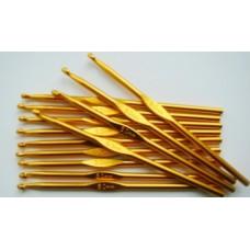 Алюминиевый крючок для вязания с цветным покрытием 5 мм