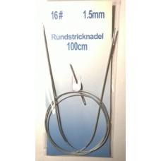 Спицы круговые на тросике 100 см х 1.5 мм