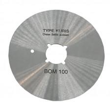 Лезвие дисковое KURIS BOM 100 R круглое для раскройных ножей