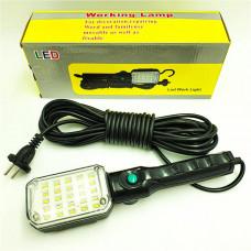 Инспекционный свет для СТО автомобильная светодиодная 25 LED лампа-переноска, кабель 10 метров с магнитом и крючком 7215