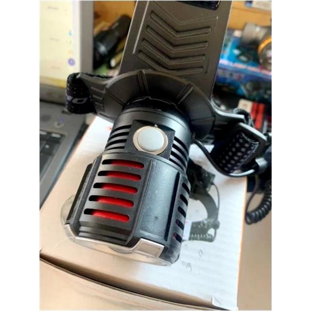Фонарь налобный WD-145, P90, Zoom