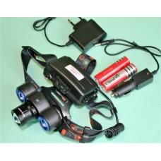 Фонарь WD-418 налобный аккумуляторный на 3 Led T6