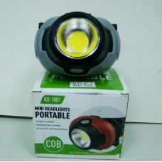 Фонарь WD-453 налобный светодиодный COB