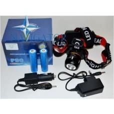 Фонарь налобный аккумуляторный светодиодный WD139-P90 LED