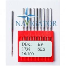 Промышленные швейные иглы Dotec DBx1, BP, 1738 SES для прямострочных машин, легкие и средние ткани, трикотаж