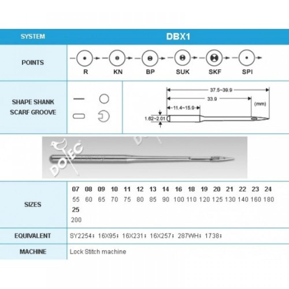 иглы Dotec 134 DPx5 BP SES, 100 шт.