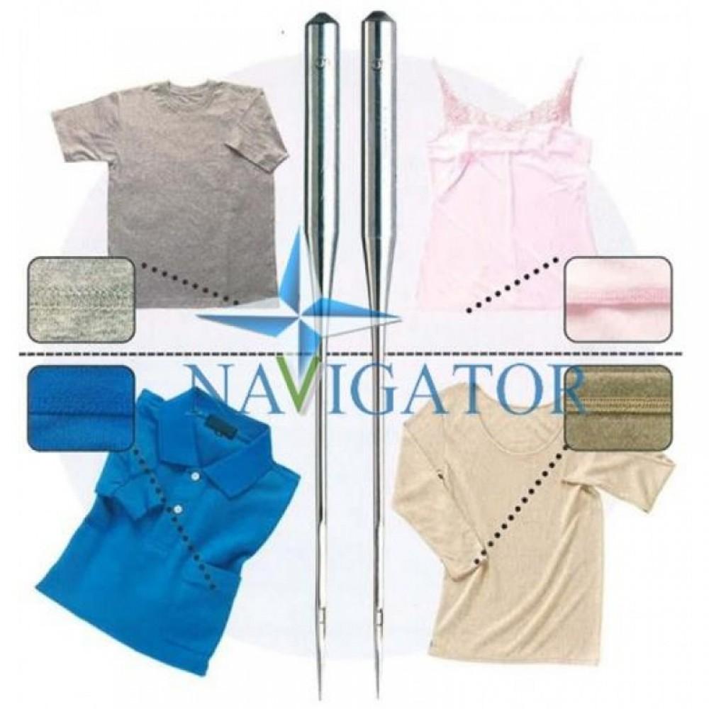Промышленные швейные иглы Dotec DCx27 BP, B27 SES № от 60 до № 180 для промышленных оверлоков, 100 шт.