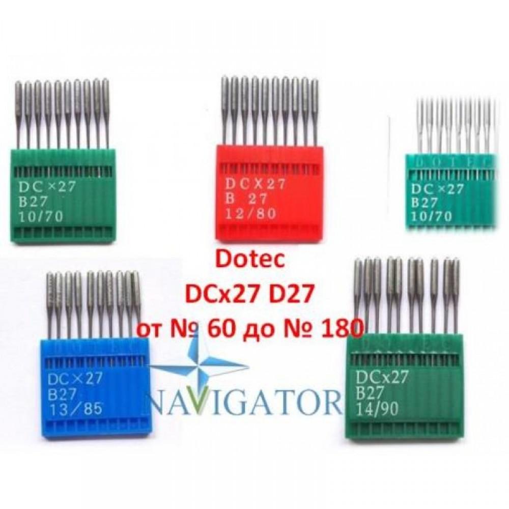 иглы Dotec DCx27, B27  для промышленных оверлоков, 100 шт.
